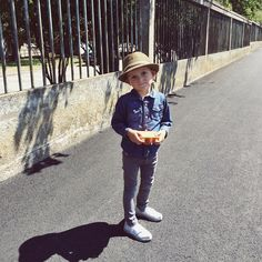 My little love in his silver Toms shoes via @urbanluxcz #myboy