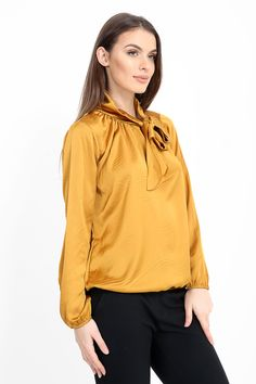 Chic af😍🔥 Silky blouse with neck tie detail in mustard✨ ❌Blogger Favourite❌ £18 Jadoreyou.com More colours available ➡ . #shop #fashion #slay #model #gold