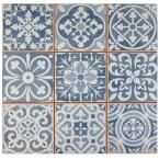 It is easy to picture sun-drenched streets of Spain when looking at the Merola Tile Faenza Azul 13 in. x 13 in. Ceramic Floor and Wall Tile. Save time and labor spent arranging smaller square tiles and Decor, Ceramic Tiles, Ceramics, Flooring, Vintage Industrial Design, Merola Tile, Spanish Tile, Ceramic Floor, Wall Tiles