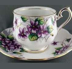 Royal Albert - Flower of the Month Series - Violets - February www.royalalbertpatterns.com