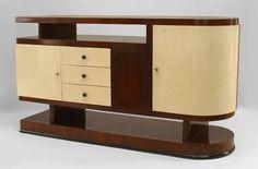 Art Moderne/1940s Italian cabinet/case-piece sideboard parchment #Italien Moebel #Sideboard #Wohnzimmer