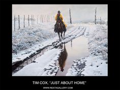 "Western Art by Tim Cox, ""Just About Home"""