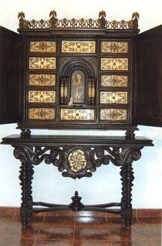 18th c anglo indian ivory miniature bureau cabinet 1780 engraved ivory on sandlewood h 36 5 - Muebles marroquies en madrid ...