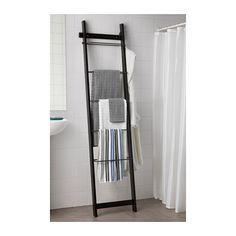 HJÄLMAREN Towel holder - black-brown - IKEA