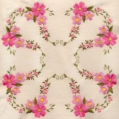 8x8 inch Floral Quilt 3