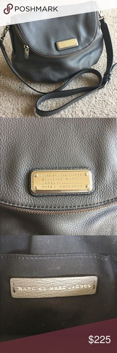 Marc by Marc Jacobs New Q Natasha crossbody Like new! No signs of wear. Beautiful pebbled gray leather. Comes with dust bag. Marc by Marc Jacobs Bags Crossbody Bags