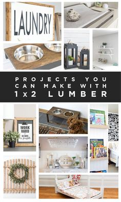 Easy projects you can make with 1x2 lumber!