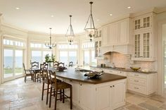 white kitchen at beach house...