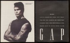 Henry in a Gap Ad. I am not sure how I feel about this! Gap Ads, Henry Rollins, Got Him, How I Feel, Mood, Feelings, Swimsuit, Punk, Image