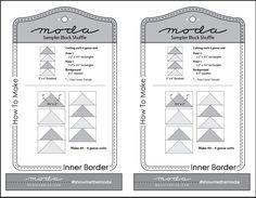 Moda Sampler Block Shuffle - Inner Border instructions