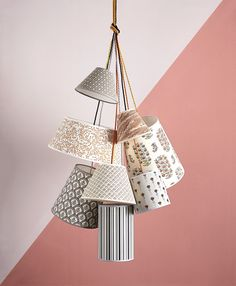 Fabric covered shades from the May 2013 issue of House & Garden