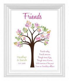 FRIENDS gift wall art - Gift for BEST FRIEND - Special Friends Birthday Gift - Christmas Gift for Friend - Colors can be changed on Etsy, $15.00