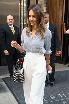 While summer's beachy waves, air-dried bedhead, and messy buns mark the return of laissez-faire hair, Jessica Alba's polished curls offer a thoughtfully pulled-together counterpoint to the season's breezy take on beauty.