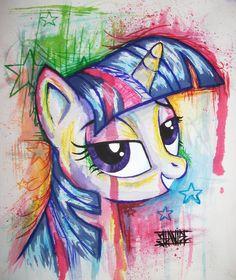 A cool my little pony drawing Mlp Twilight, Princess Twilight Sparkle, Hasbro My Little Pony, My Lil Pony, Sparkle Paint, My Little Pony Drawing, Mlp Fan Art, Little Poney, My Little Pony Friendship