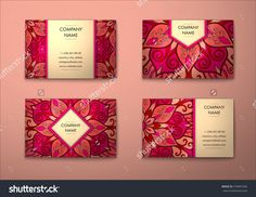 Vector Vintage Business Card Set. Floral Mandala Pattern And Ornaments. Oriental Design Layout. Islam, Arabic, Indian, Ottoman Motifs. Front Page And Back Page. Business Card Template. Visiting Card - 379897426 : Shutterstock