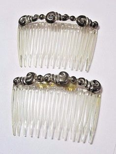 Pair Vintage Ethnic Sterling Silver 925 Hair Combs Fancy Hecho En Mexico Signed | eBay