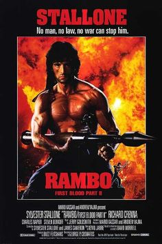 RAMBO FIRST BLOOD II: Sylvester Stallone - 1985