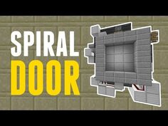 Welcome back to another tutorial! Today we are looking at this SUPER FAST opening and closing, compact SPIRAL piston door. This door has a beautiful open. Minecraft Videos, Minecraft 1, Minecraft Houses, Minecraft Stuff, Minecraft Redstone Tutorial, Minecraft Building Blueprints, Minecraft Creations, Building A House, Doors
