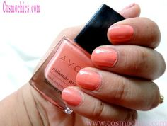 Currently On My Nails Avon Nailwear Pro Nail Enamel Shade Summer Peach: Review, Swatches & NOTD