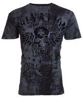 Archaic AFFLICTION Mens T-Shirt BLACK TIDE Skull Tattoo Biker MMA UFC $40 a