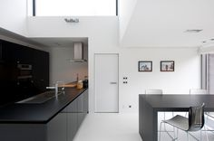 Exterior Designs Modern Minimalist Design Modern French Doors Interior With White Concrete Wall And Black Cabinet On The White Modern Ceramics Floor With Small Wallpaper Luxury Modern French Doors Interior