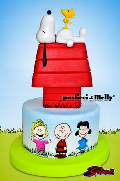 Peanuts, Snoopy and the Gang Bolo Snoopy, Snoopy Cake, Snoopy Birthday, Snoopy Party, Fruit Creations, Cake Creations, Fancy Cakes, Cute Cakes, Peanut Cake
