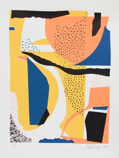 Bingo Atelier print | Atelier Bingo is Max & Adèle. Each print has many layers and can be seen as a dialogue between the artists. Constantly experimenting with shapes, textures, and colors they create screenprints as well as digital prints