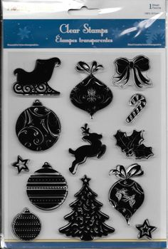 Holiday Trendz Clear Stamp Set   NEW   by CynthiasCraftingNook