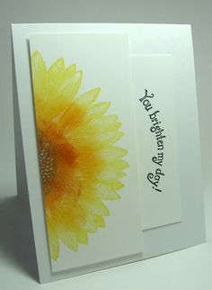 stamping up north: Stamping Up sunflower....you brighten my day