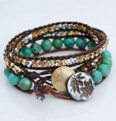 Irish Linen Bracelet. Get the instructions