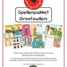 spellenpakket-grootouders Tien educatieve spellen bij het thema 'grootouders' met een breed en gevarieerd doelenpakket. Te gebruiken als werkje, als gezelschapsspel of in de reken- en taalhoek.