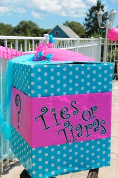 Our Gender Reveal Box Dyne Dalton What About This I Think Like The Tiaras Better Than Pearls Or Tutus