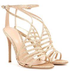 "Gianvitto Rossi SS 2015  ""Vega"" glitter sandals."