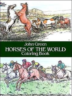 Dover Horses of the World Coloring Book has Forty-two accurate and exciting illustrations of all types of horses from around the world in authentic settings: fiery Arabian, royal Lipizzaner, Appaloosa, Shetland pony, knee-high Falabella, Morgan, and more. Shop www.HorseToysSuperstore.com for all your horse toys, tattoos, jewelry, t shirts, back packs, lunch boxes, models, plush stuffed animal horse toys, gifts and birthday party supply!