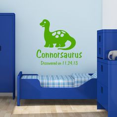 Dinosaur decal Personalized vinyl decal by OffTheWallExpression