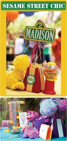 kids party ideas | We spotted this colorful Sesame Street Chic birthday party over on ...