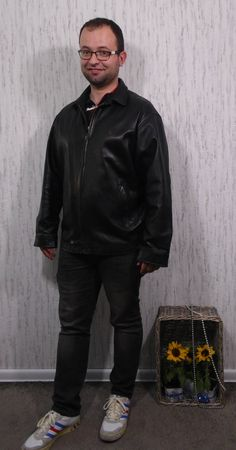 Vintage Ralph Lauren Black Leather Jacket by SweetSpicyVintage on Etsy