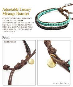 LEILA レイラ アジャスタブル ラグジュアリー ミサンガ ブレスレット br《 Adjustable Luxury Misanga Bracelet 》  300rb.. :)