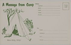 Papergreat: Postcards to send home from summer camp