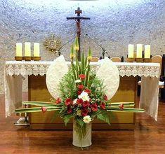 44 ==================================================================================&... Tropical Flower Arrangements, Funeral Flower Arrangements, Alter Flowers, Table Flowers, Altar Decorations, Wedding Decorations, Christmas Decorations, Church Wedding Flowers, Funeral Flowers