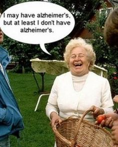Alzheimer's disease is marked by an inability to recall certain memories, but new research shows that patients diagnosed with the conditio. Funny Emails, Funny Jokes, It's Funny, Memes Humor, Inspirational Posters, I Love To Laugh, Alzheimers, Just Kidding, New People