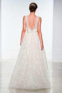 12 wedding dresses that are even more gorgeous from the back - Christos spring 2015 bridal collection Bridal Dresses, Wedding Gowns, Bridesmaid Dresses, Backless Wedding, Dress Rings, Dress With Bow, White Dress, Bridal Collection, Wedding Styles