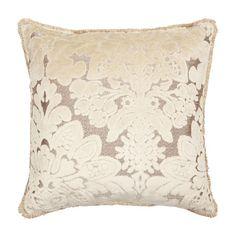 Zara velvet damask cushion