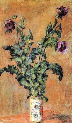 "bofransson: ""Claude Monet - 1883 Vase of Poppies """