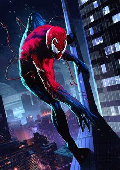 Venom Comics, Marvel Venom, Marvel Art, Marvel Heroes, Spiderman Art, Batman Vs Superman, Amazing Spiderman, Comic Villains, Marvel Characters