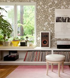 makelike (a shop) Burst Wallpaper: Grey