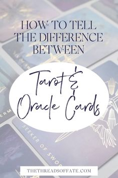 In this blog post I'm sharing all about how to tell the difference between an oracle deck vs tarot deck. This is one of the most common questions I get, check out this blog post to hear my answer! #oraclecards #reading Physic Reading, Tarot Cards For Beginners, Tarot Card Spreads, Oracle Deck, Tarot Learning, Tarot Card Meanings, Spiritual Connection, Oracle Cards