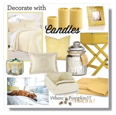"""""""Decorate with Candels"""" by cerry71 ❤ liked on Polyvore featuring interior, interiors, interior design, thuis, home decor, interior decorating, Inspire Q, Barclay Butera, H&M en Ellery Homestyles"""
