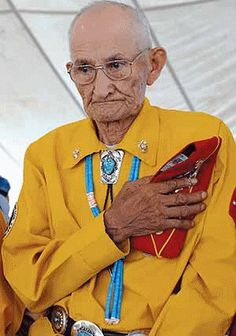 Navajo Code Talker George Smith, 90  Their code was never broken by the Japanese during WWII