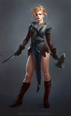 Eyia commission by AlexPascenko armor clothes clothing fashion player character npc | Create your own roleplaying game material w/ RPG Bard: www.rpgbard.com | Writing inspiration for Dungeons and Dragons DND D&D Pathfinder PFRPG Warhammer 40k Star Wars Shadowrun Call of Cthulhu Lord of the Rings LoTR + d20 fantasy science fiction scifi horror design | Not Trusty Sword art: click artwork for source